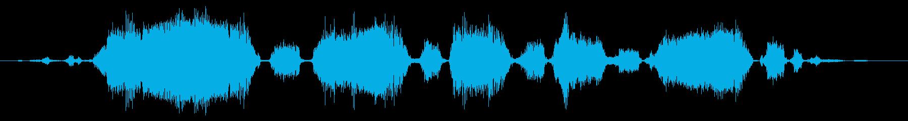 ロバ 泣く02の再生済みの波形