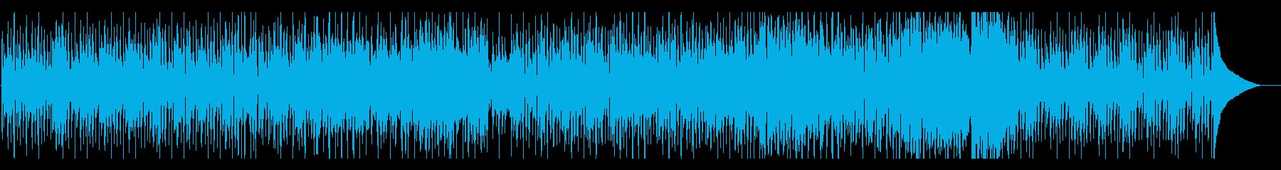 ビートの効いたブラスとピアノのスウィングの再生済みの波形