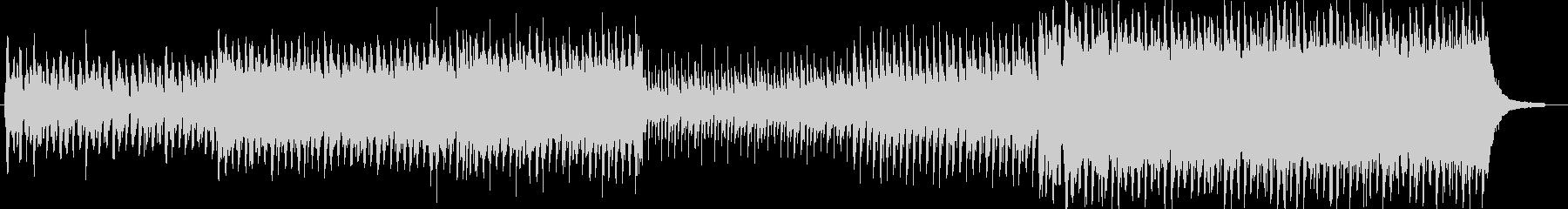ドラマチックな展開の4つ打ち曲の未再生の波形