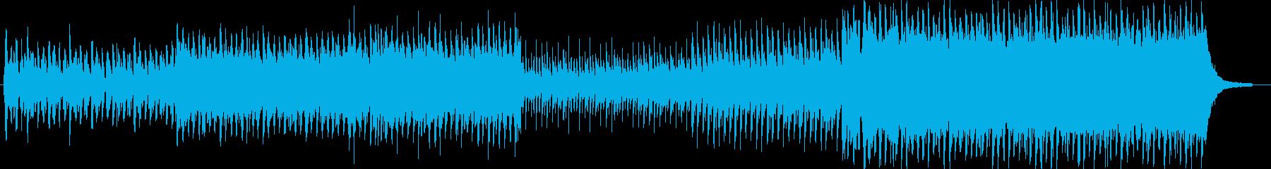 ドラマチックな展開の4つ打ち曲の再生済みの波形