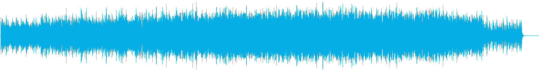 時をイメージした壮大な曲の再生済みの波形