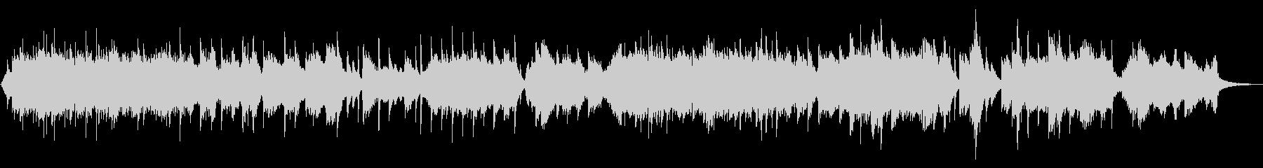 琴とシンセの音色に癒されるヒーリングの未再生の波形