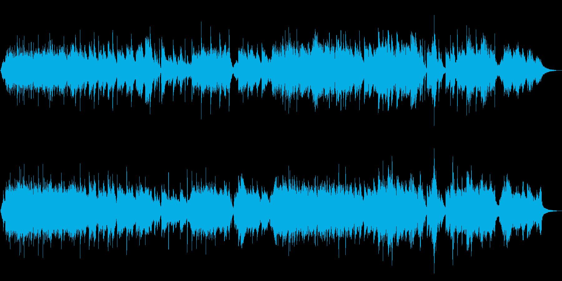 琴とシンセの音色に癒されるヒーリングの再生済みの波形
