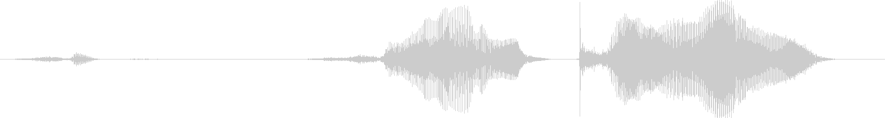 …サ、サンキューの未再生の波形