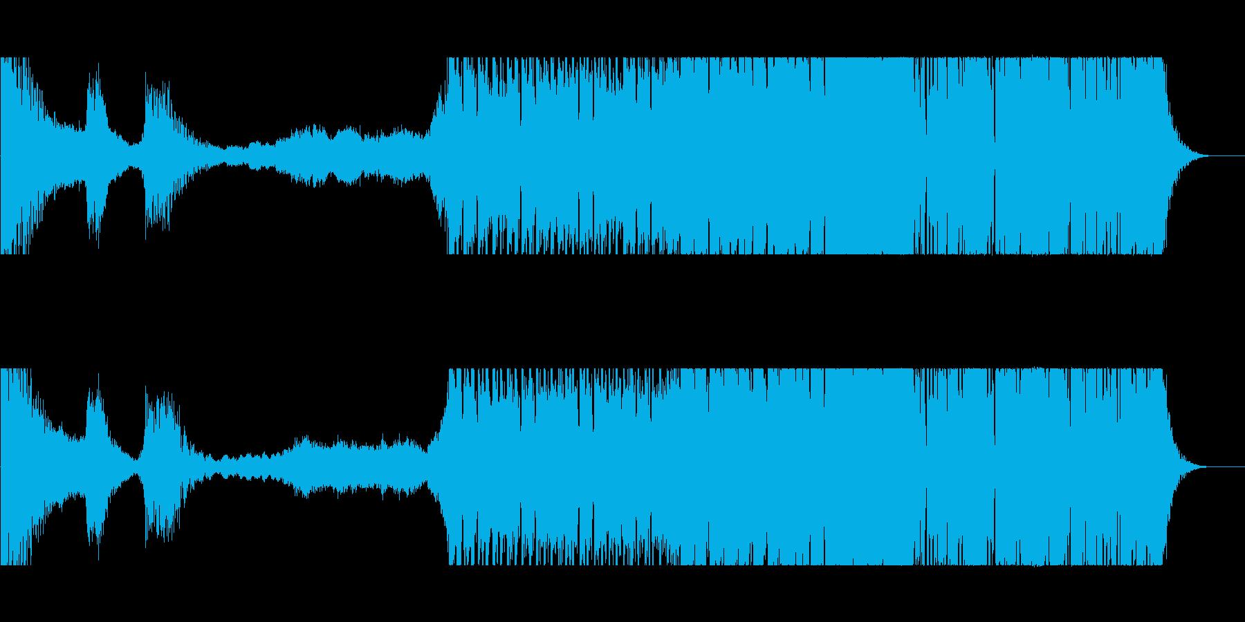 激しいドラムンベースの再生済みの波形