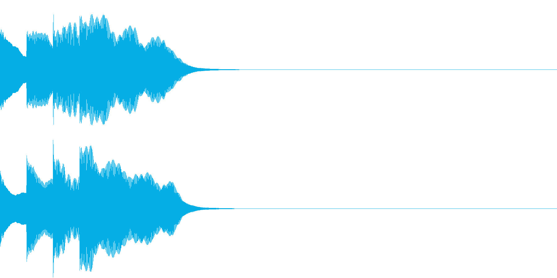 多用途効果音-07E(放送チャイム上昇)の再生済みの波形