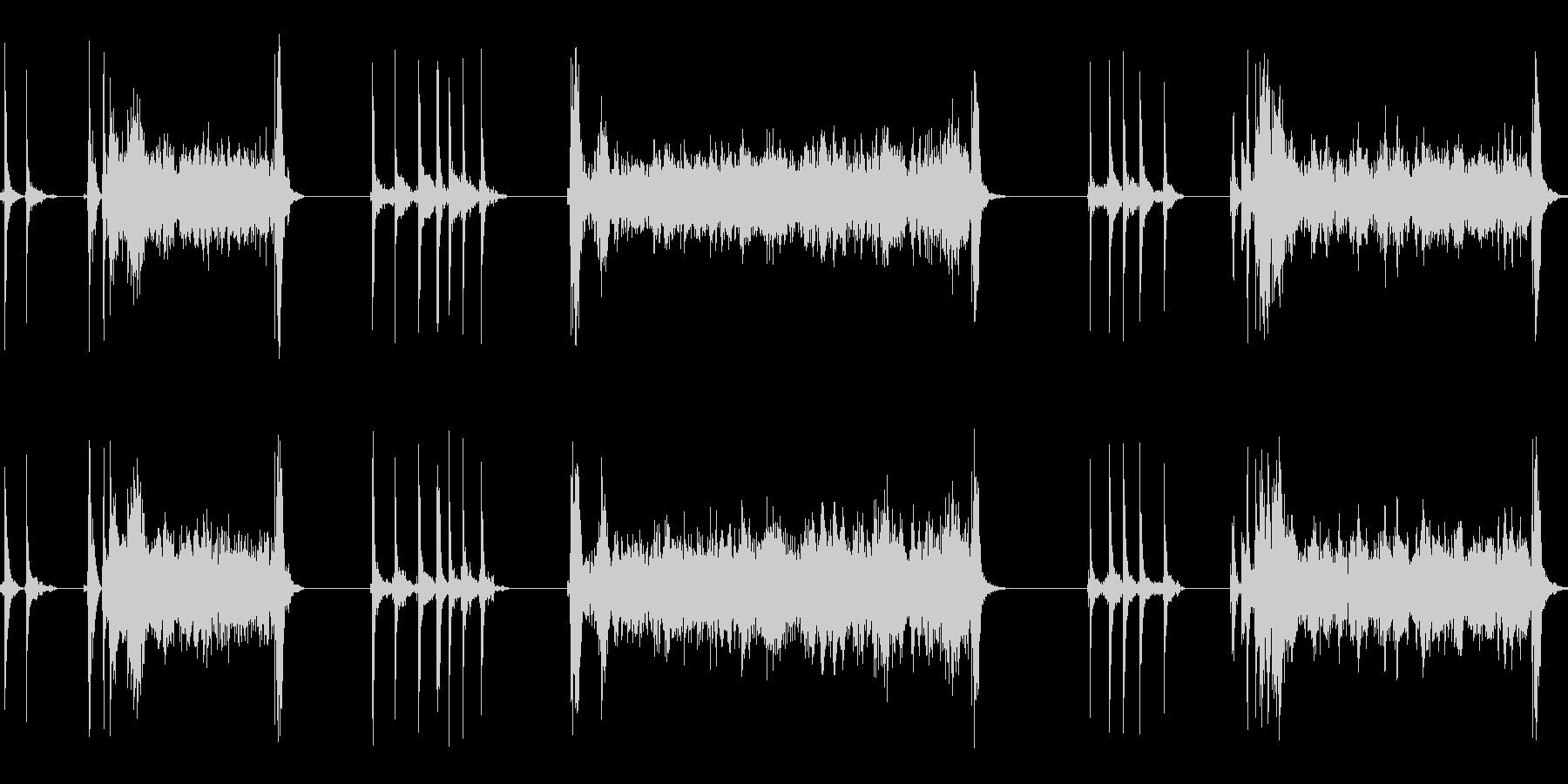 黒電話のダイヤルを回す(3度回す)の未再生の波形