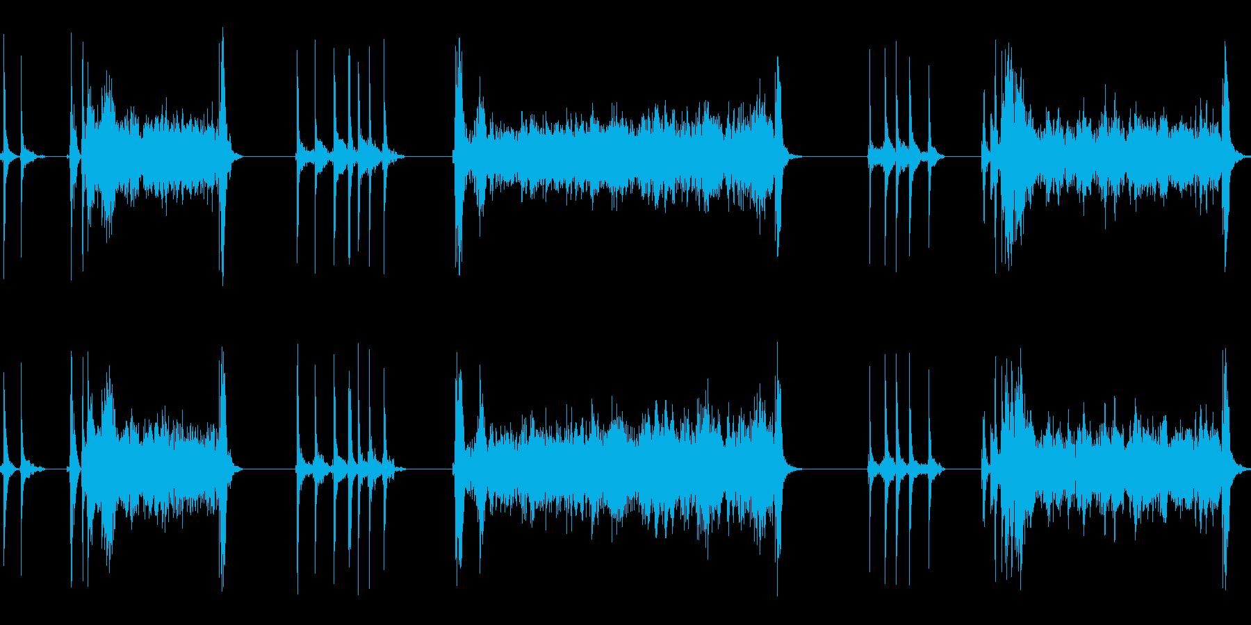 黒電話のダイヤルを回す(3度回す)の再生済みの波形
