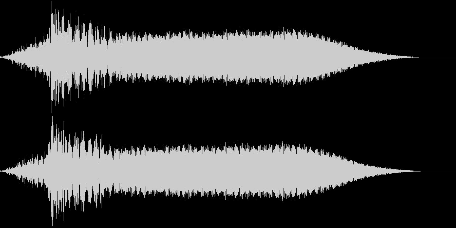 映画のド迫力のタイトルロゴの未再生の波形