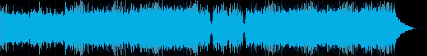打ち込み系ギターロックの再生済みの波形