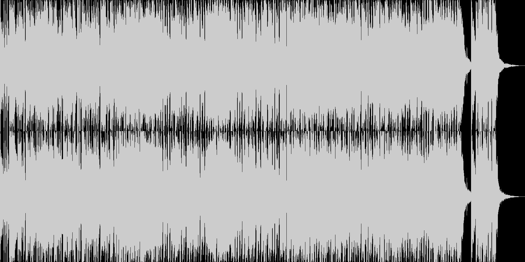 アメリカ風のミッドテンポロックの未再生の波形