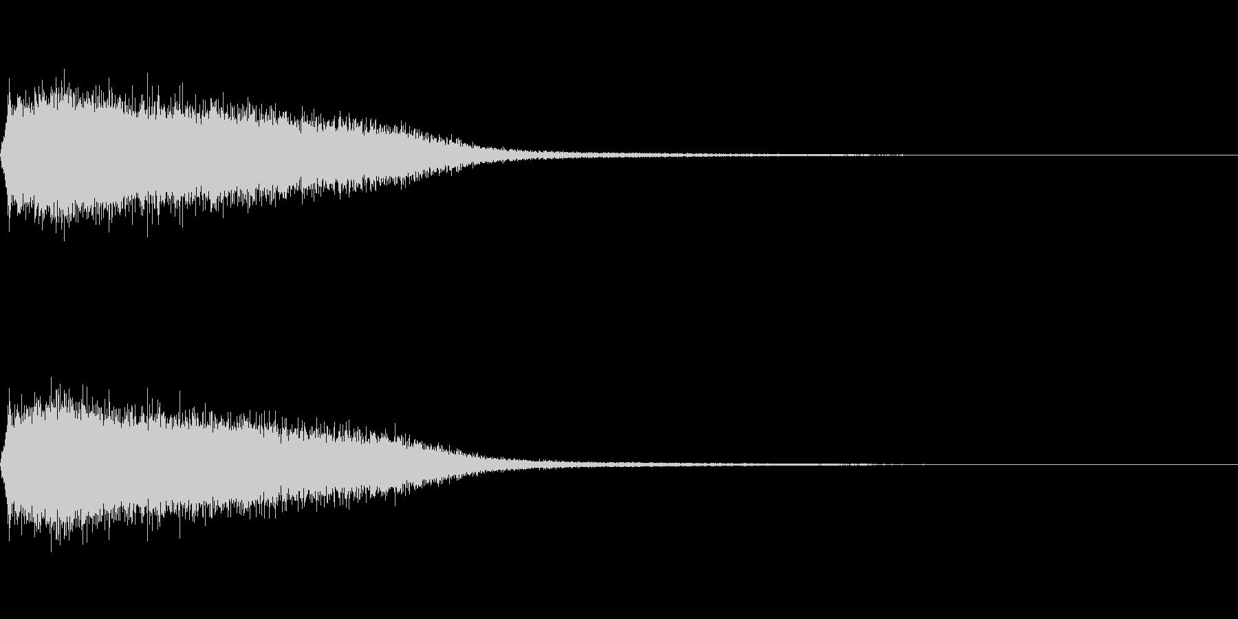 ジェット音・エアバルブブラストの未再生の波形