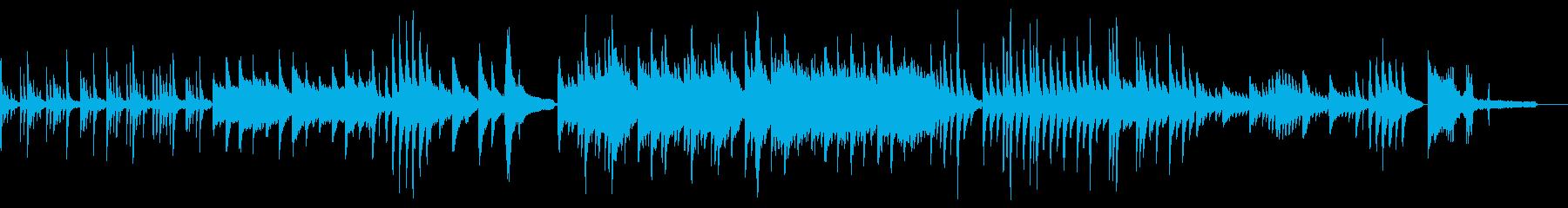 癒やしの静かな和風ソロピアノ ショート の再生済みの波形