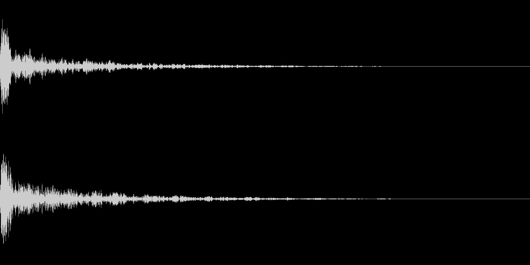 ドーン-18-1(インパクト音)の未再生の波形