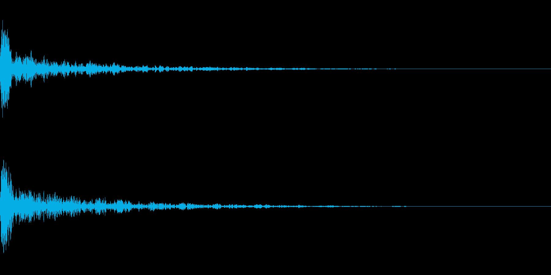 ドーン-18-1(インパクト音)の再生済みの波形