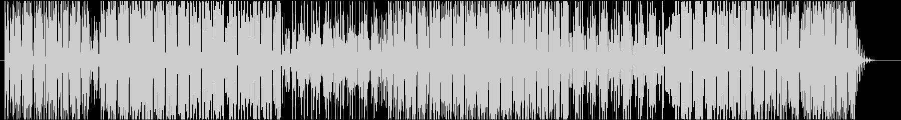 ファンキーなシンセベースが印象的なBGMの未再生の波形