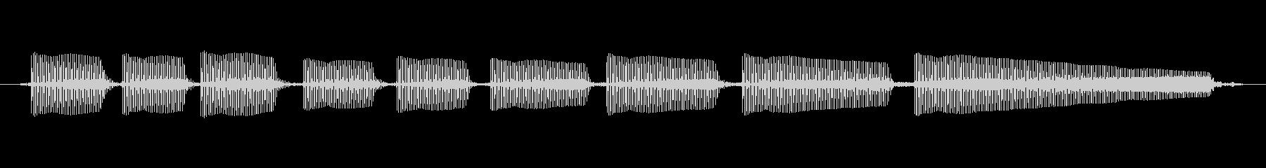 エレキギター4弦チューニング1の未再生の波形