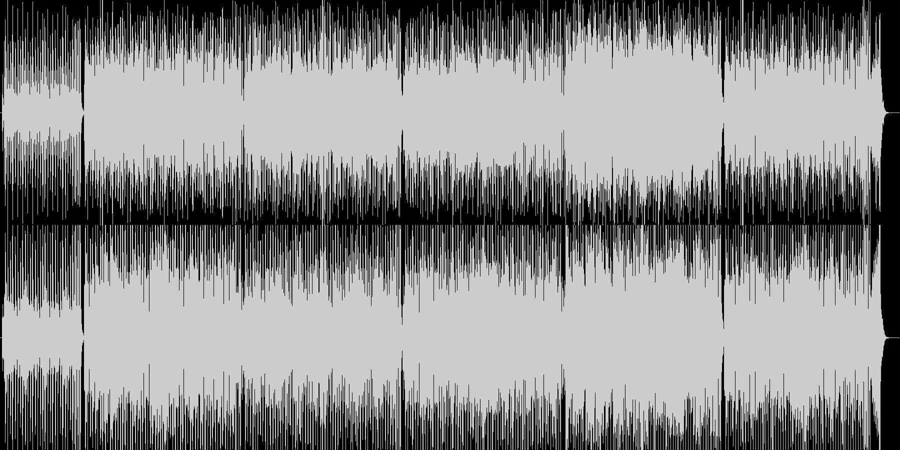 バーやCMで流れるリズミカルな曲の未再生の波形