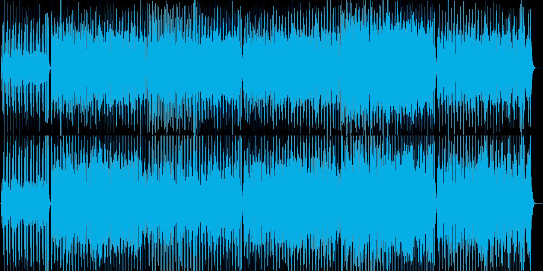 バーやCMで流れるリズミカルな曲の再生済みの波形