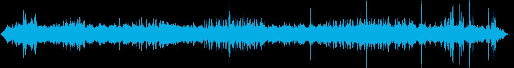 熱帯雨林の音/動物の鳴き声の再生済みの波形