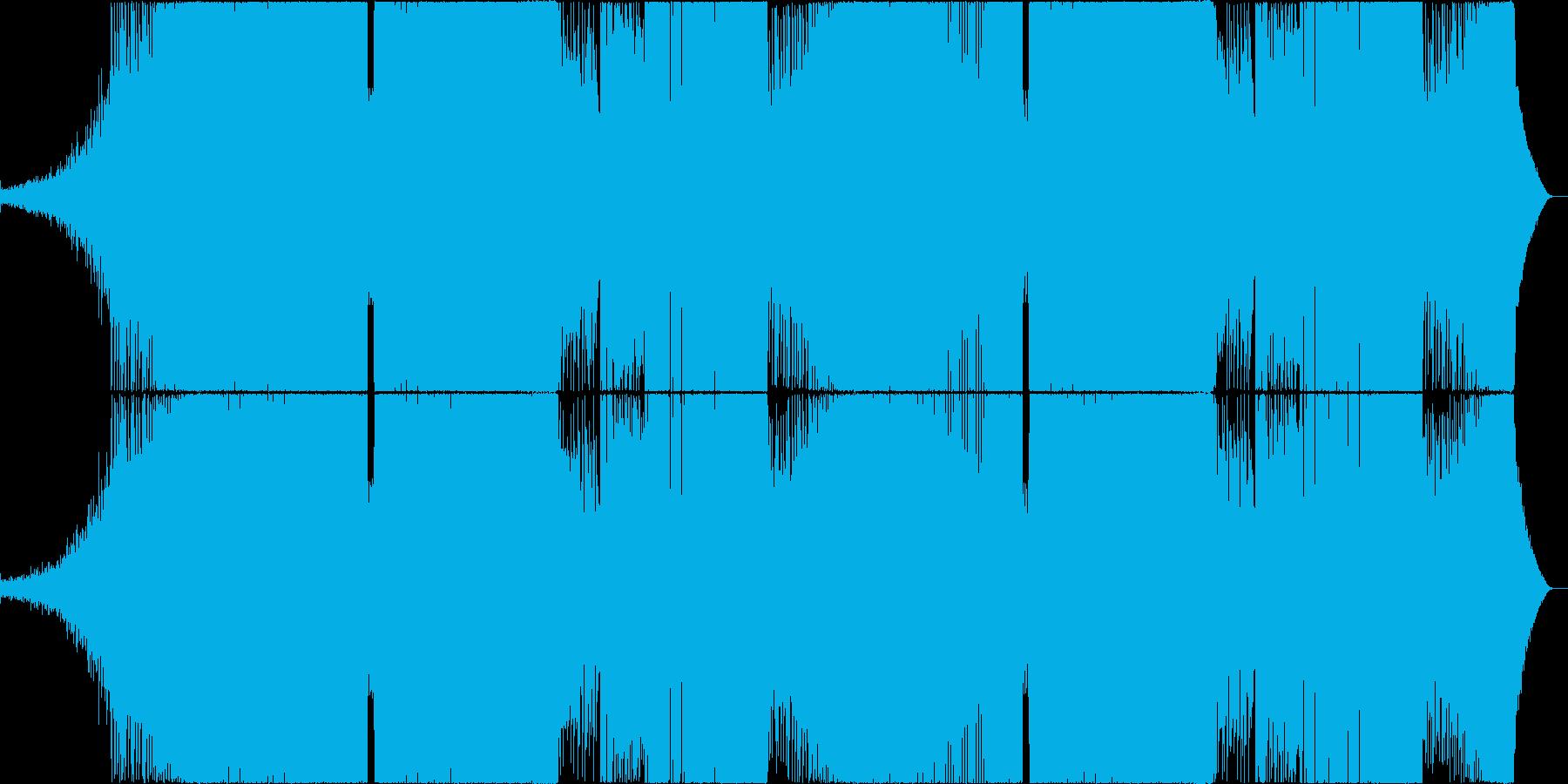 重低音の効いたハウス寄りのEDMの再生済みの波形