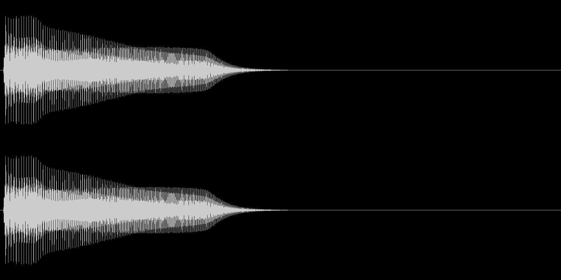 スーファミ時代のFFコマンド選択音の未再生の波形