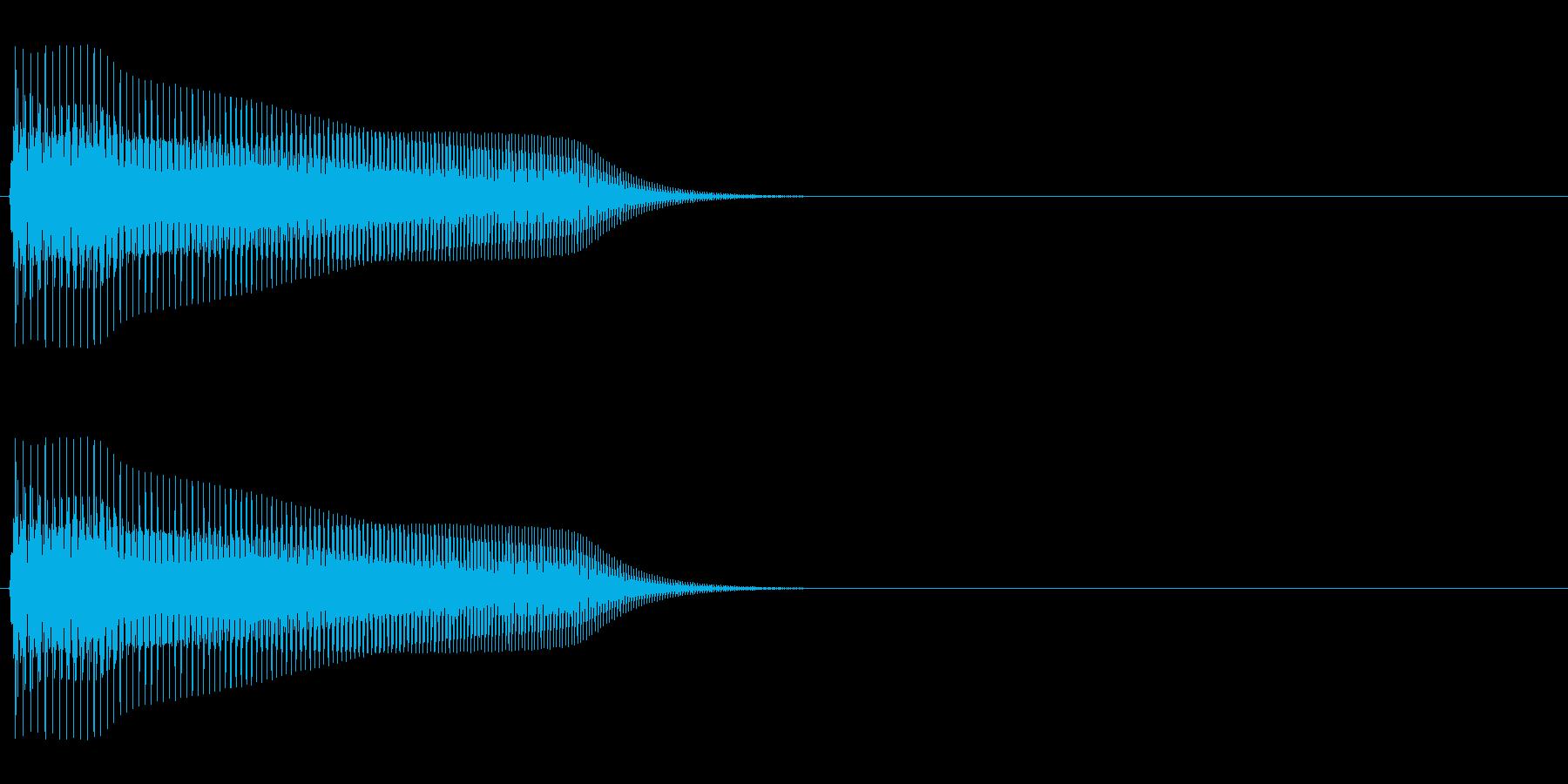 スーファミ時代のFFコマンド選択音の再生済みの波形