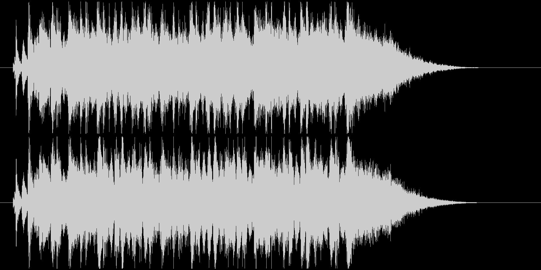疾走感のあるバンドサウンドのジングルの未再生の波形