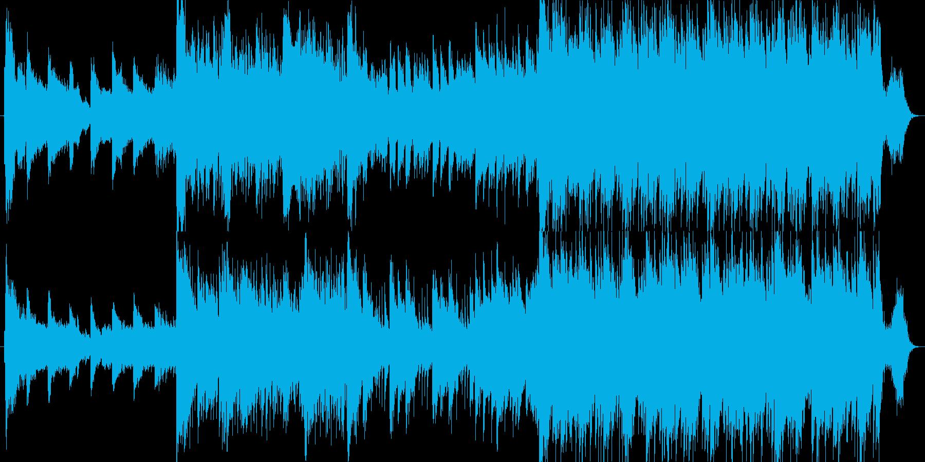 民族楽器+ピアノが印象的なしっとりBGMの再生済みの波形