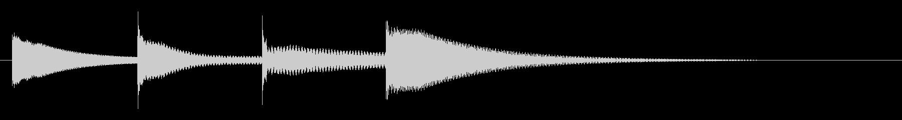 上りチャイム(ラドミラ)(速め)の未再生の波形