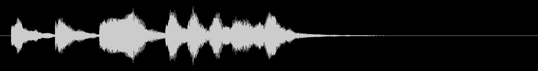 のほほんジングル027_勇ましいの未再生の波形