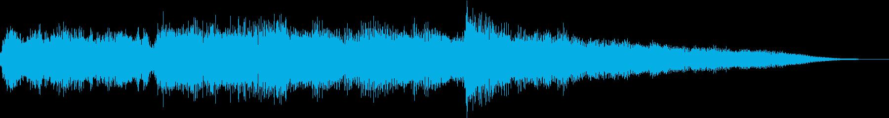【ジングル】不気味な怖いワルツの再生済みの波形