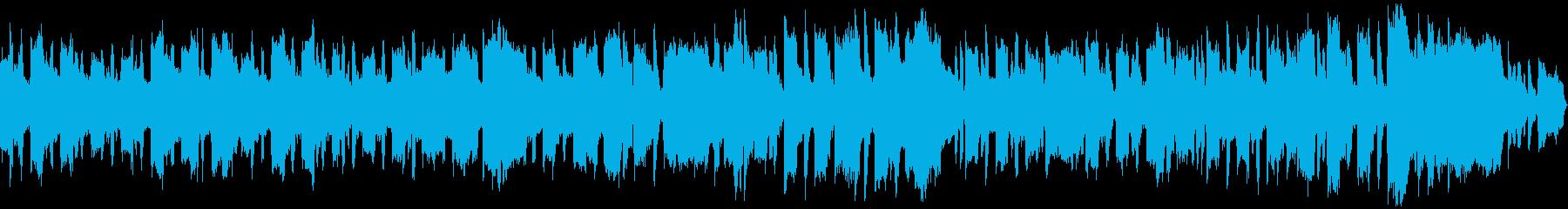 穏やかで明るいリコーダーの曲の再生済みの波形