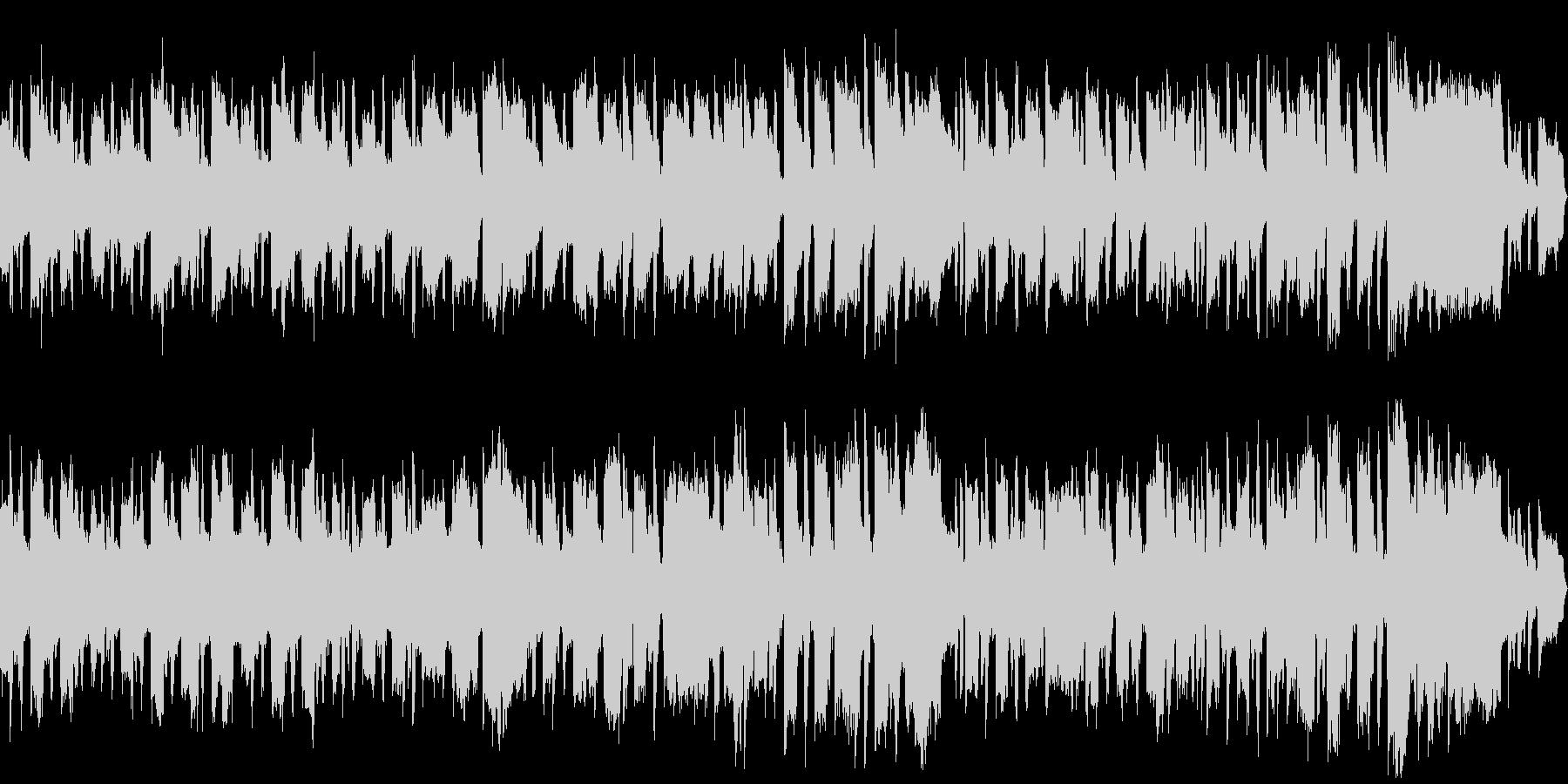 穏やかで明るいリコーダーの曲の未再生の波形
