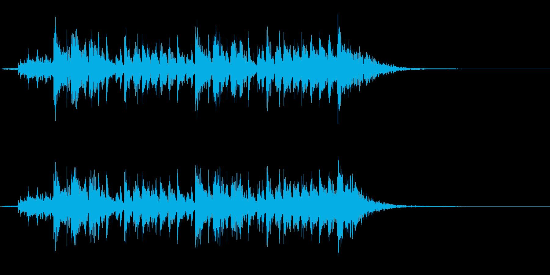 コーポレートラダーの再生済みの波形