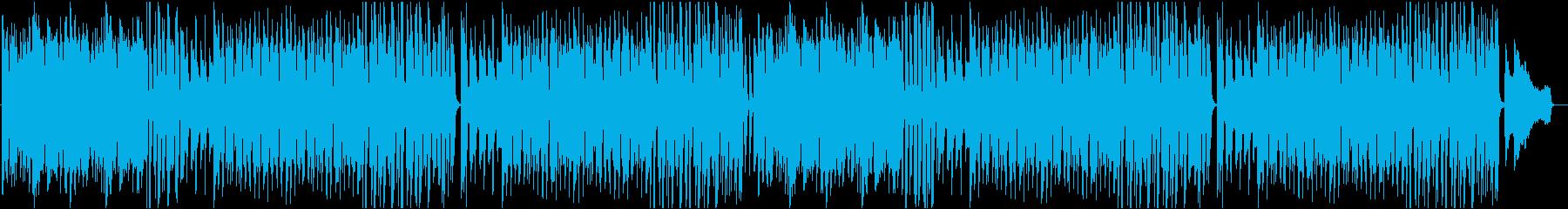 シンプルで軽快な明るいピアノ曲の再生済みの波形