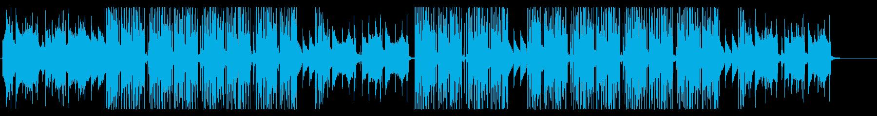 洋楽、冬の雰囲気のR&B、ヴォーカル抜きの再生済みの波形