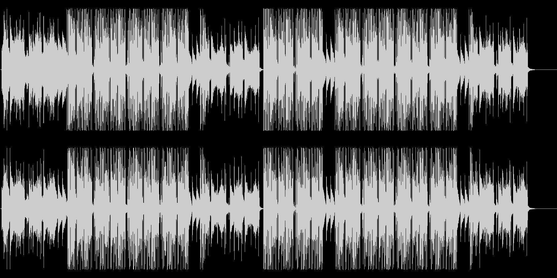 洋楽、冬の雰囲気のR&B、ヴォーカル抜きの未再生の波形
