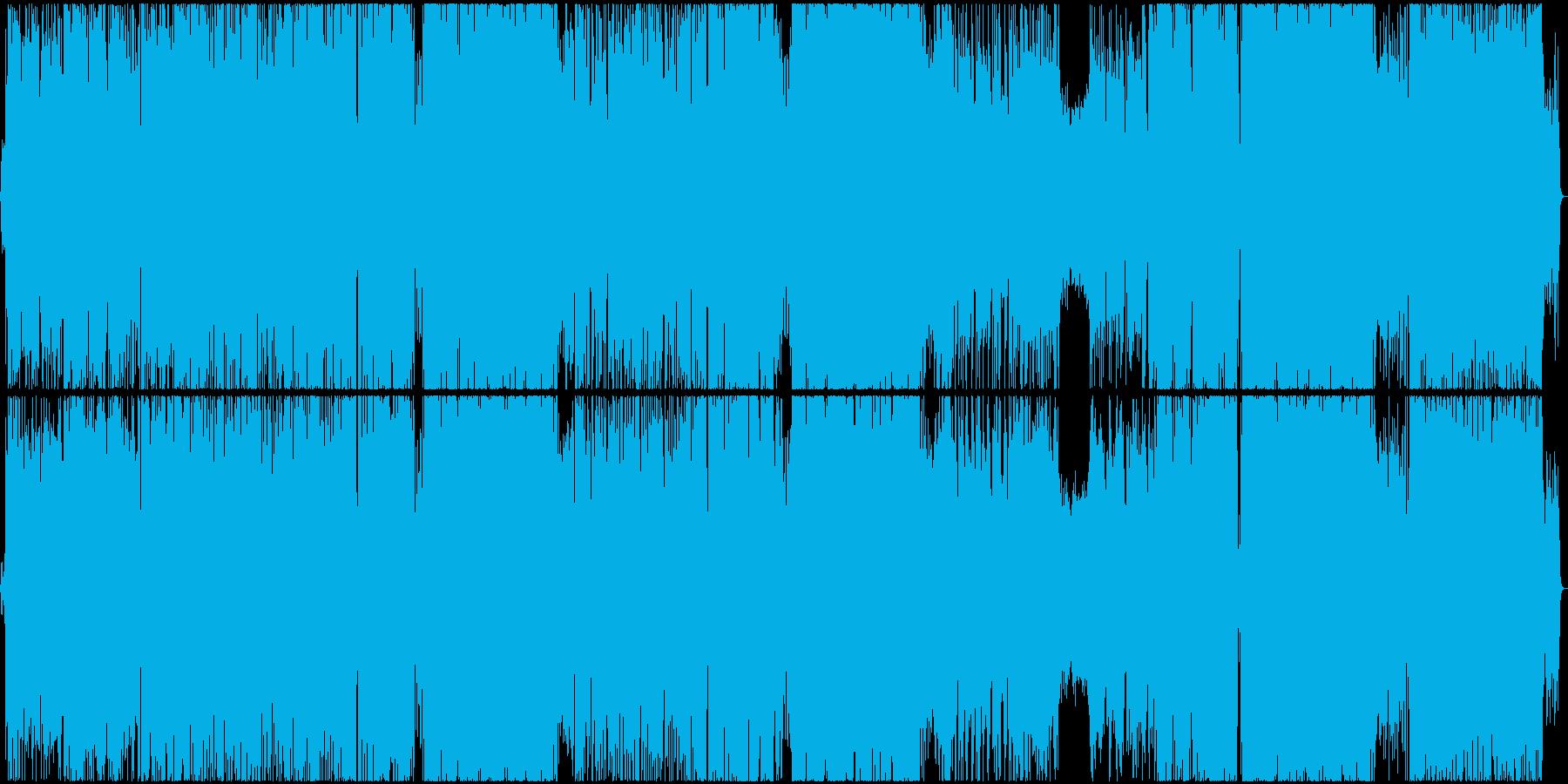 アニメOP風エレクトロポップスの再生済みの波形