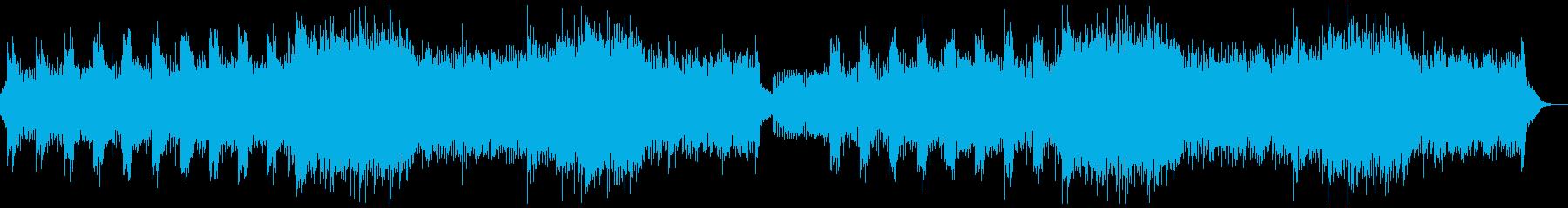 ホラー系のヘビーメタルロック・戦闘バトルの再生済みの波形