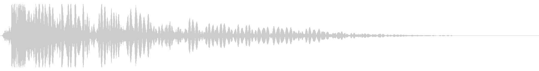 段階的なクイックブーム攻撃の影響の未再生の波形