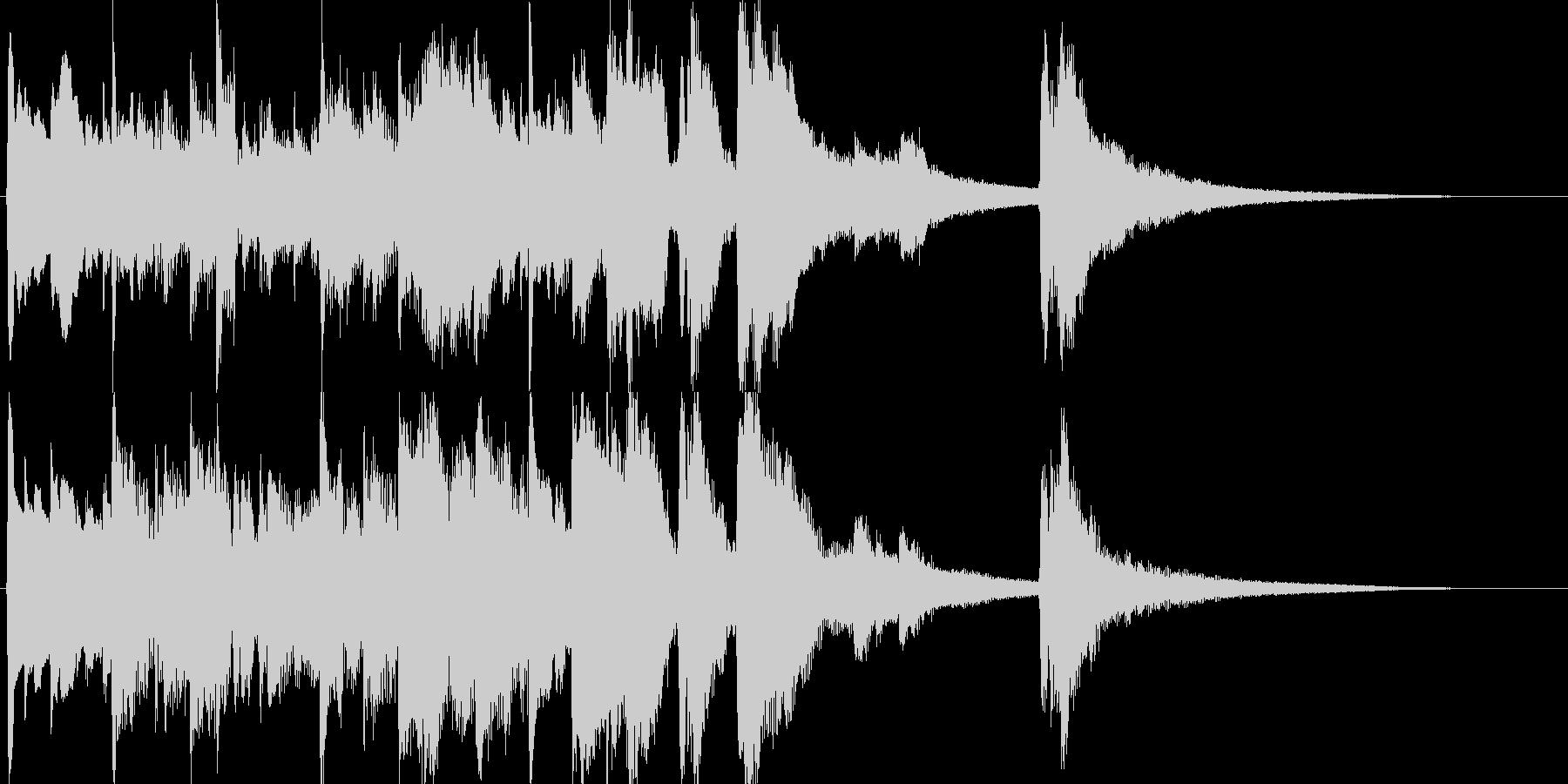 Aギターの癒し系ヒーリングサウンドの未再生の波形