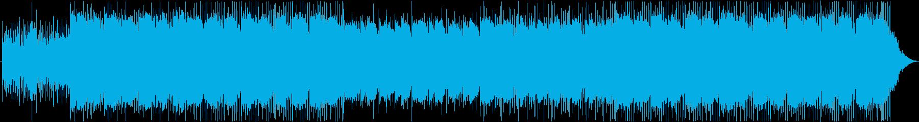 アコースティックギター音楽の再生済みの波形