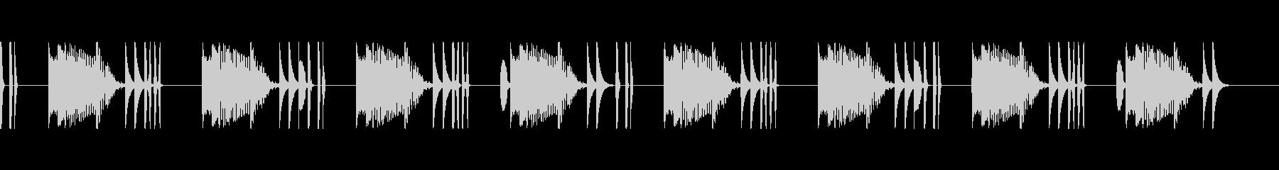 シュール・マヌケな場面の間があるBGMの未再生の波形