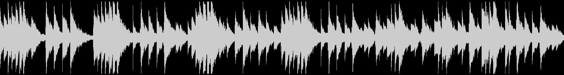優しく感動的な雰囲気の オルゴールBGMの未再生の波形