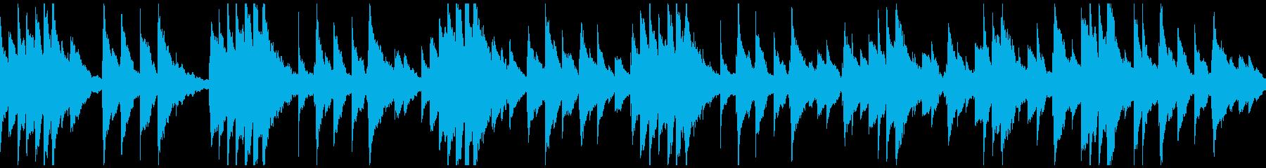 優しく感動的な雰囲気の オルゴールBGMの再生済みの波形