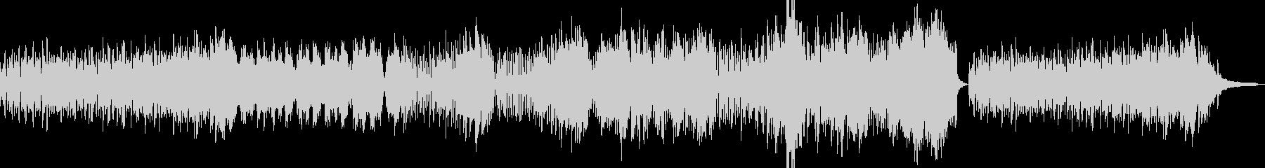 軽快な雰囲気のBGMの未再生の波形