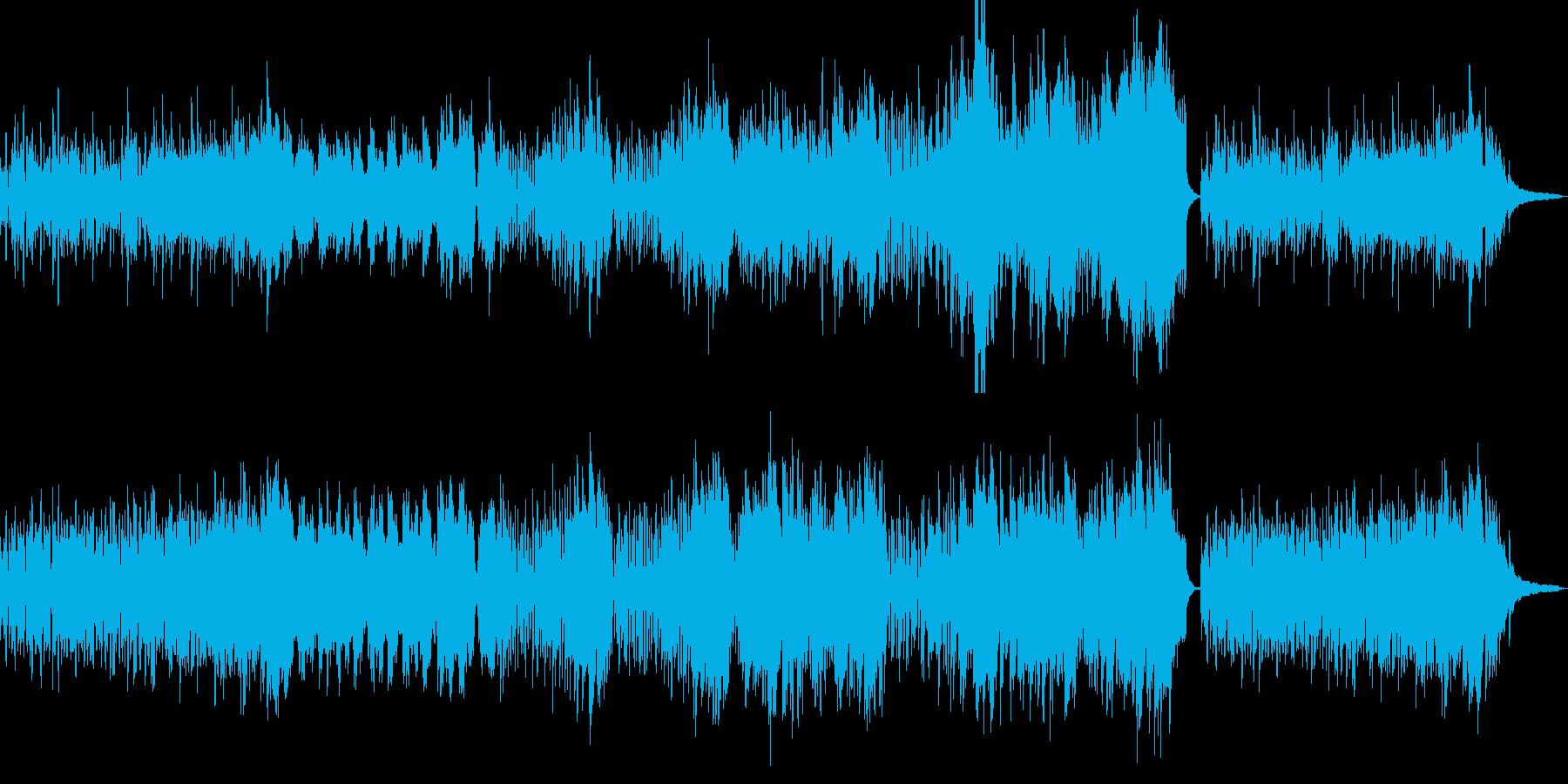 軽快な雰囲気のBGMの再生済みの波形