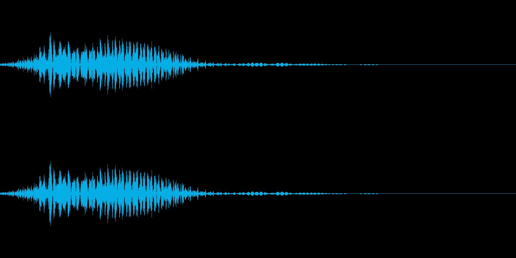 ふっ!!(剣を振るなどの気合の声)の再生済みの波形