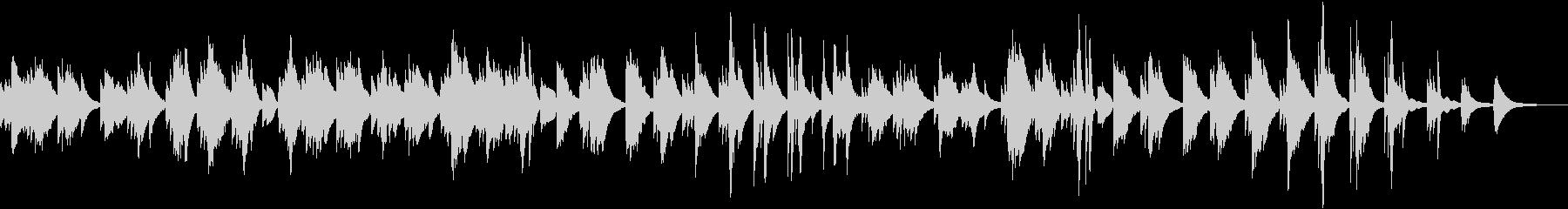 和音の響きが美しいあたたかなピアノ曲の未再生の波形
